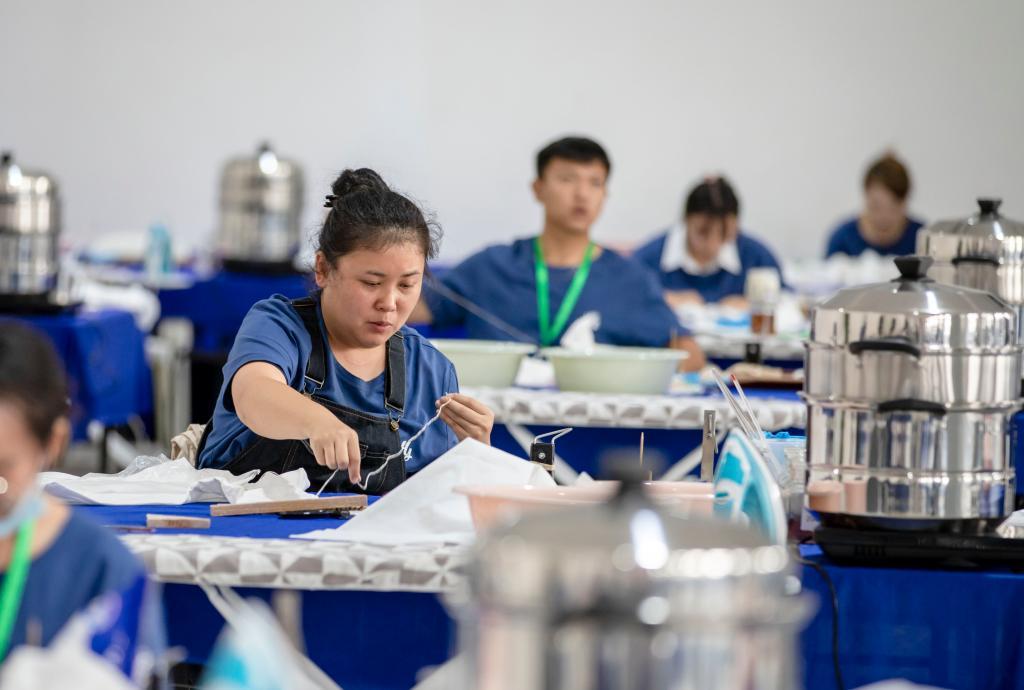 全国纺织非遗扎染职业技能邀请赛在江苏海安举行
